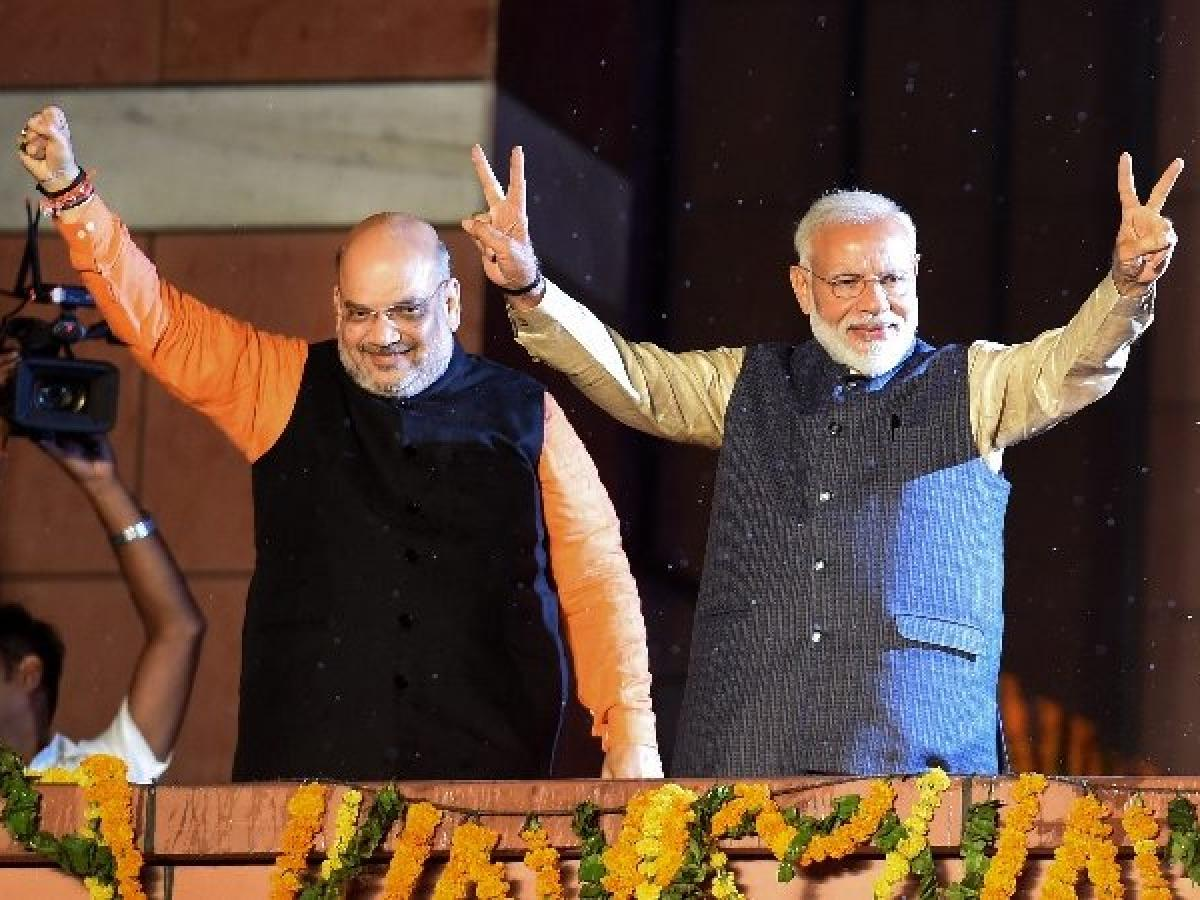 PM Modi with Amit Shah (File Photo)