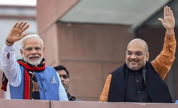 Amit Shah with Narendra Modi