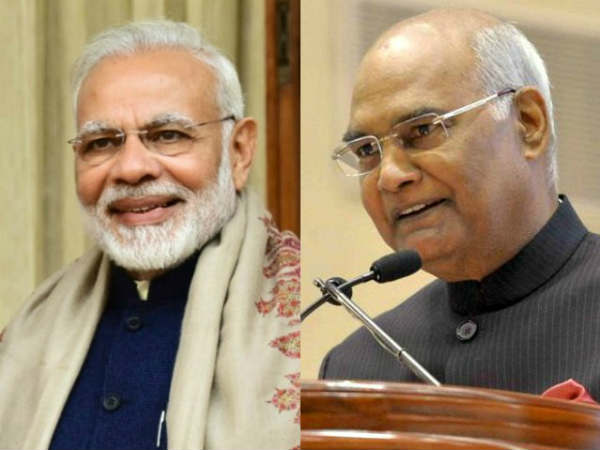 President Ram Nath Kovind and Prime Minister Narendra Modi (File Photo)