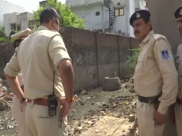 Police personnel at the spot in Bhopal