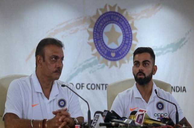 India head coach Ravi Shastri with captain Virat Kohli