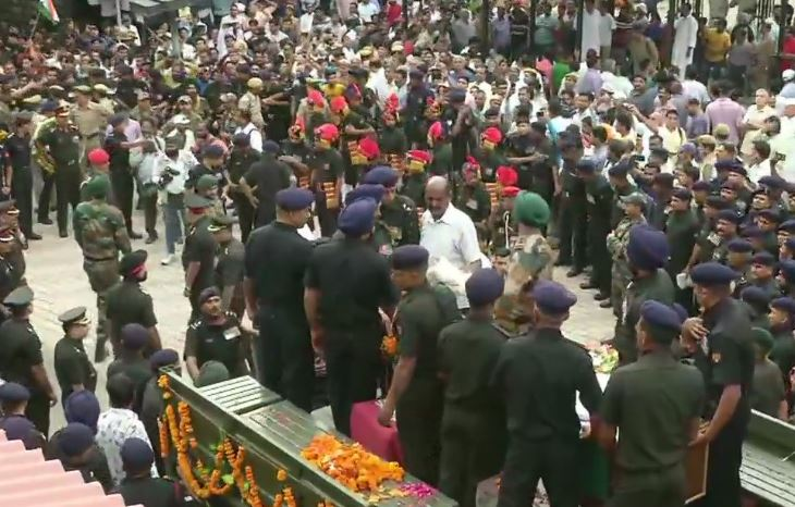 Mortal remains of Major Ketan Sharma reached his residence in Meerut on Tuesday