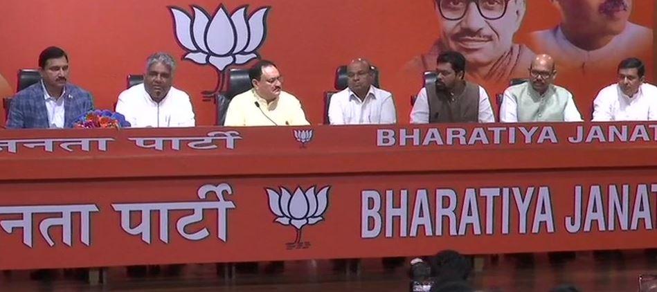YS Chowdary, CM Ramesh, TG Venkatesh joins BJP in presence of BJP Working President JP Nadda