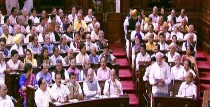 Prime Minister Narendra Modi in Rajya Sabha on June 20