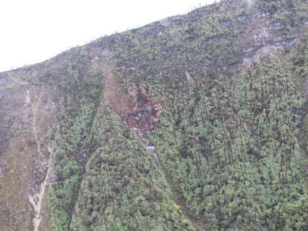 The AN-32 plane crash site in Arunachal Pradesh