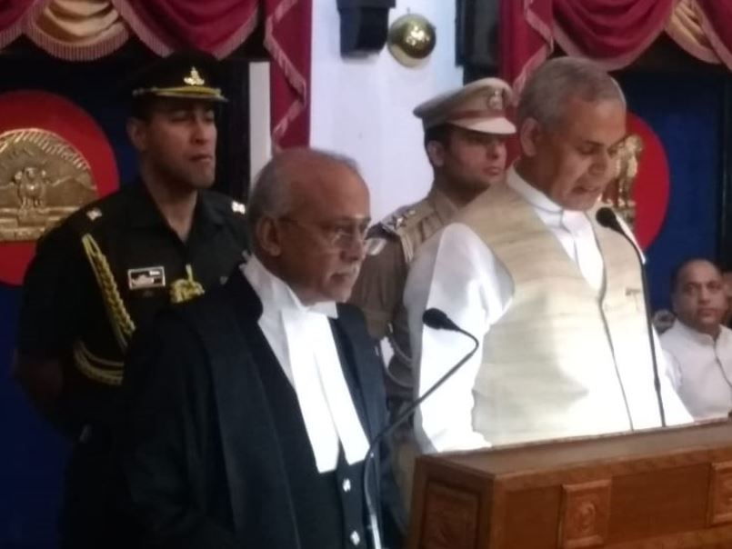 Justice V Ramasubramanian taking oath as the Chief Justice of the Himachal Pradesh High Court