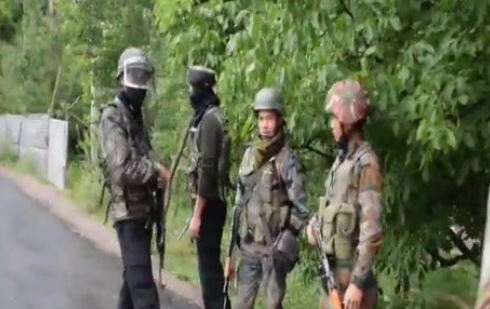 Visuals from the encounter site in Shopian