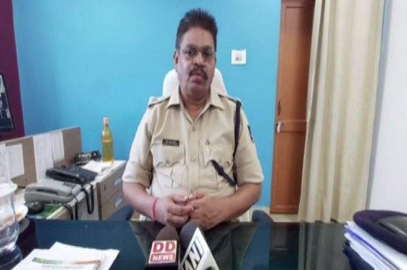 Ashwin Mohanty, Superintendent of Police (SP), Jharsuguda speaking to reporters