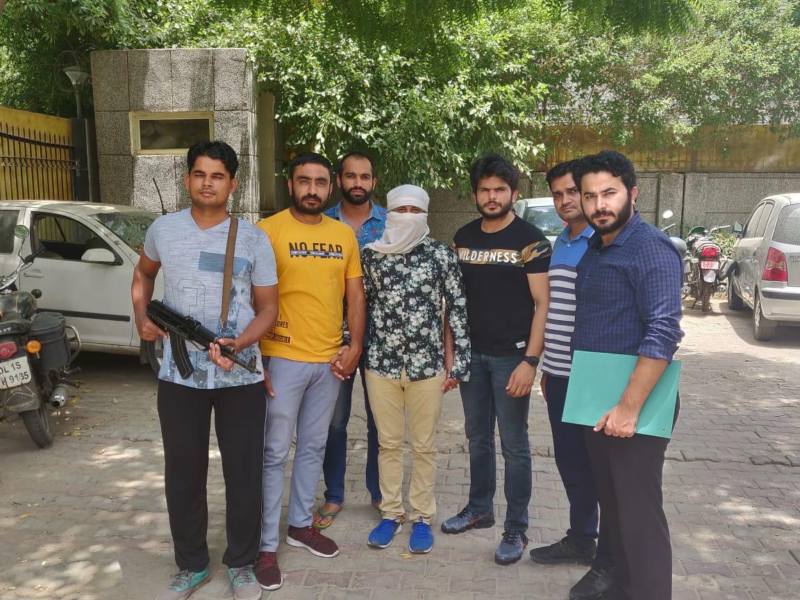 Sonu Jaat in police custody