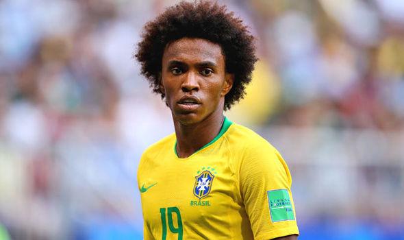 Brazil's midfielder Willian