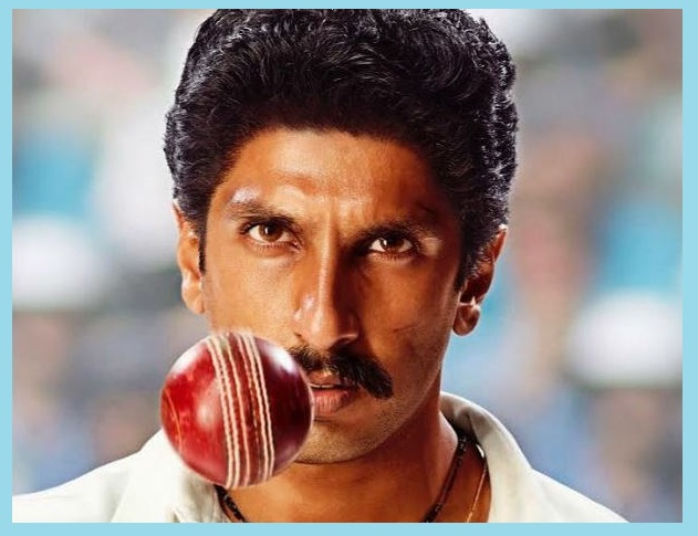 Ranveer Singh as Indian cricketer Kapil Dev