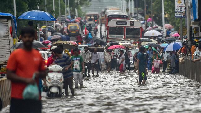 Heavy rains caused water logging in several areas of Mumbai