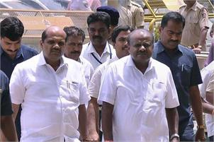 Karnataka Chief Minister H D Kumaraswamy announced that he would seek a trust vote