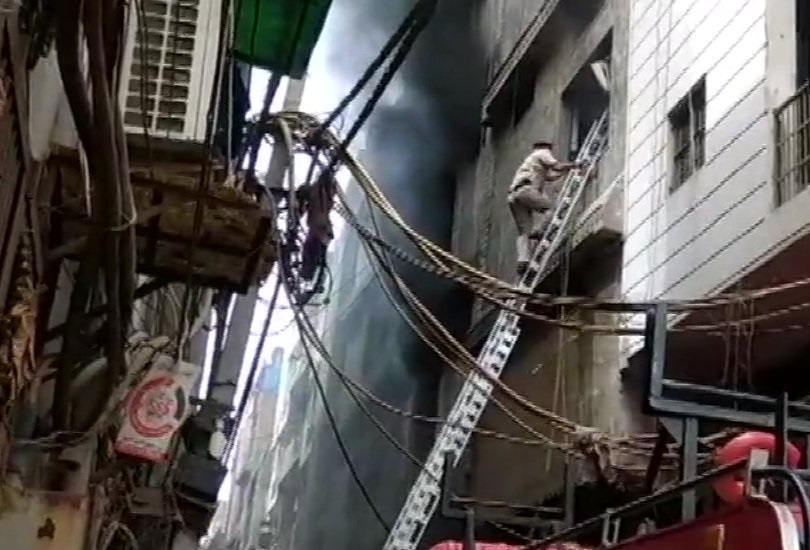 Fire broke out at a factory in Shahdara's Jhilmil