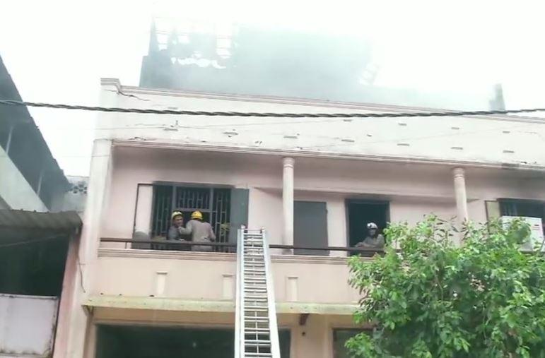 Fire  in a footwear factory