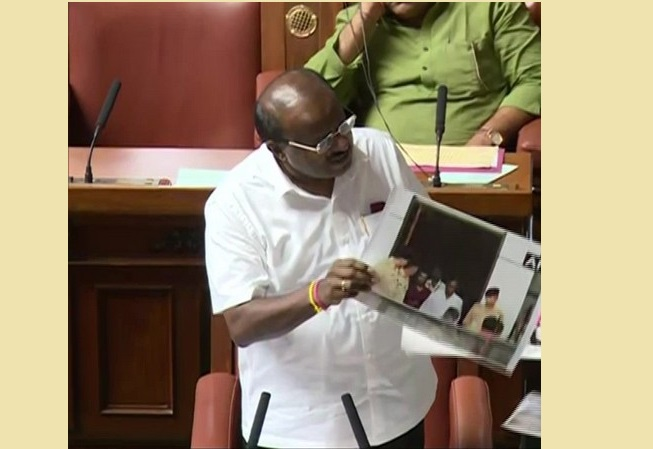 Karnataka Chief Minister H D Kumaraswamy  in Assembly