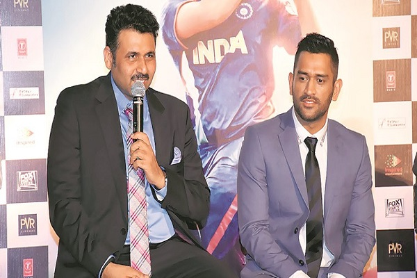 Arun Pandey and MS Dhoni