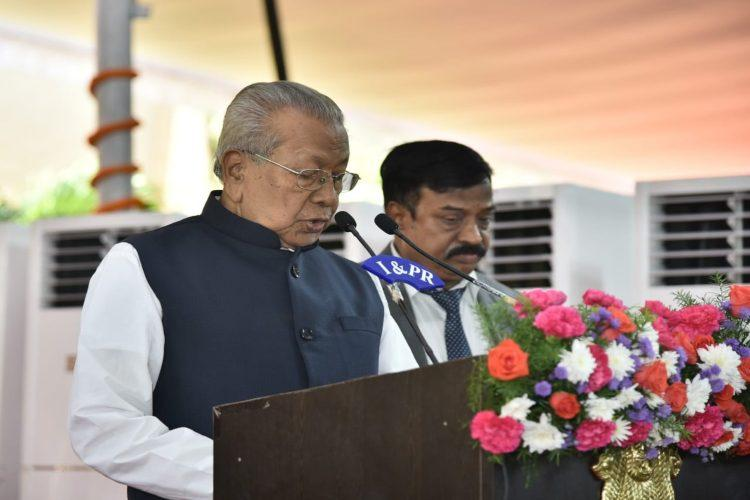 Biswabhusan Harichandan taking oath