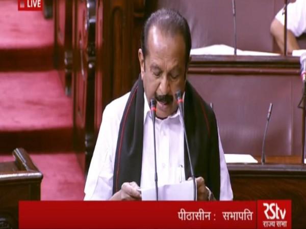 Marumalarchi Dravida Munnetra Kazhagam (MDMK) leader Vaiko taking oath as the member of Rajya Sabha