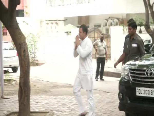 Rahul Gandhi visited Sheila Dikshit Residence