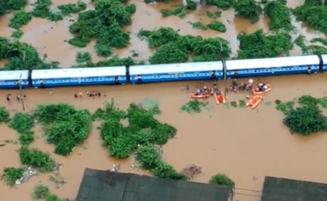 Mahalaxmi Express stuck in flood