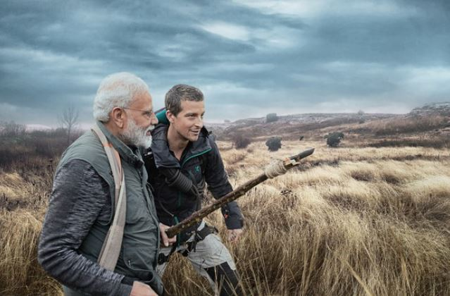 A still from the episode of  'Man Vs Wild' with PM Modi and Bear Grylls