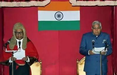 Jagdeep Dhankar takes oath as governor of West Bengal at Raj Bhavan in Kolkata