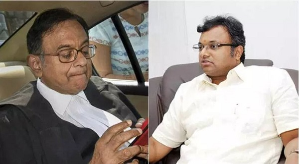 P Chidambaram and his son Karti