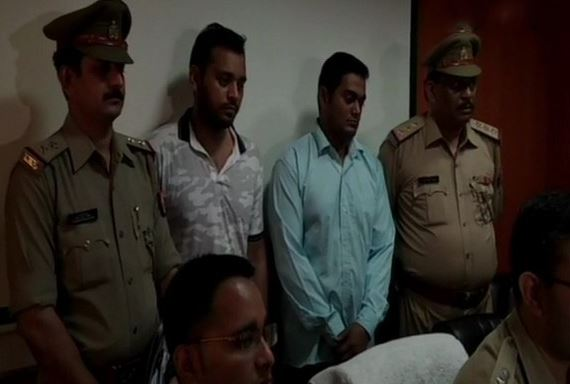 The accused arrested by police