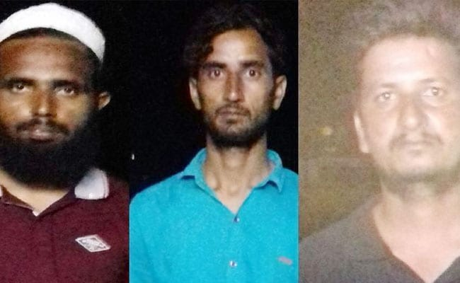 The three men arrested for allegedly spying