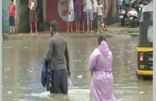 Water logged in parts of Mumbai following incessant rainfall