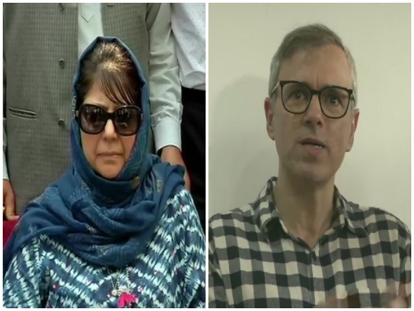 PDP president Mehbooba Mufti and National Conference deputy chief Omar Abdullah