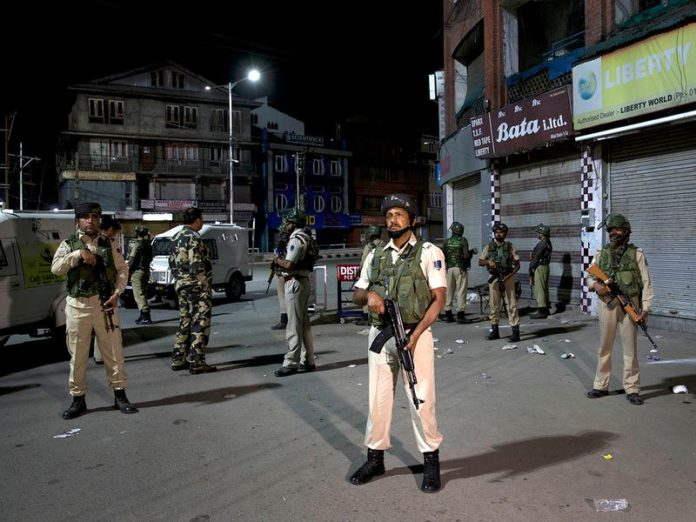 Security Forces at various places in the valley