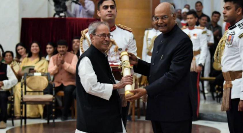 Pranab Mukherjee was conferred the Bharat Ratna by his successor Ram Nath Kovind