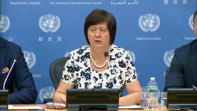 UN Security Council (UNSC) President Joanna Wronecka