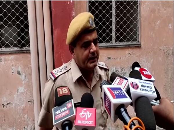 Chanaram Police Inspector speaks to media in Bhilwara on Saturday