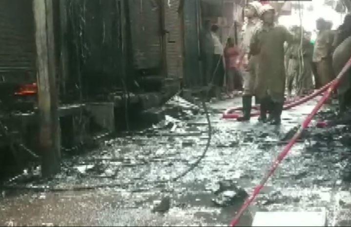 Fire breaks out at Gandhi Nagar market