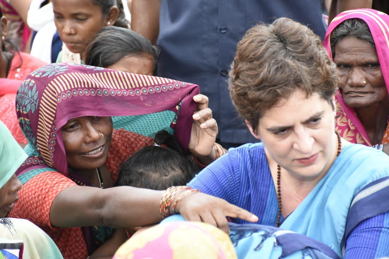 Congress Priyanka Gandhi Vadra visits Sonbhadra