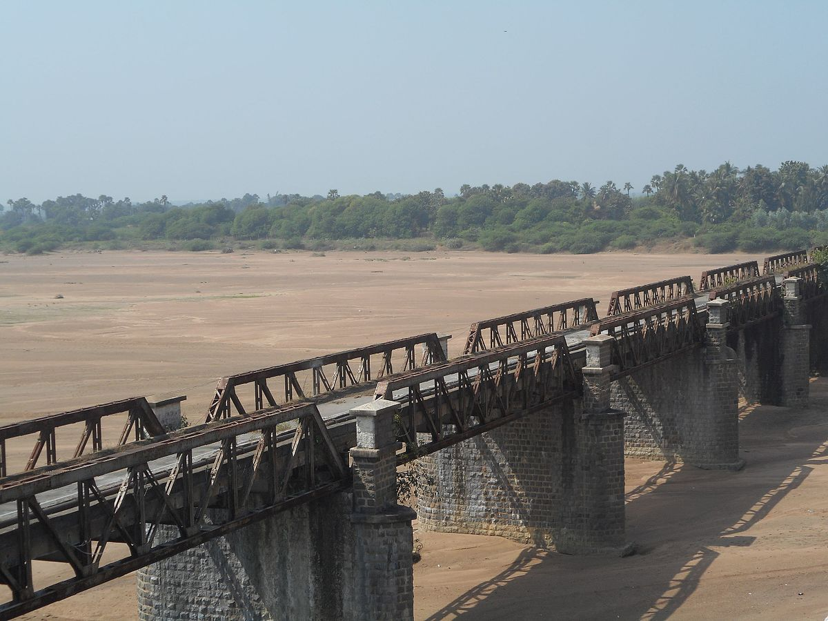 Water level in the Krishna river