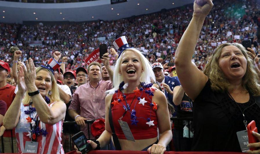 Women supporting U.S. President Donald Trump