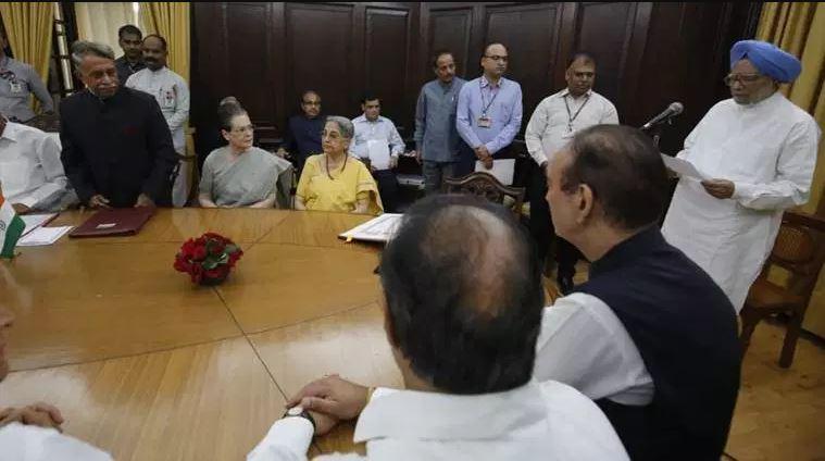 Former Prime Minister Manmohan Singh taking oath Rajya Sabha member
