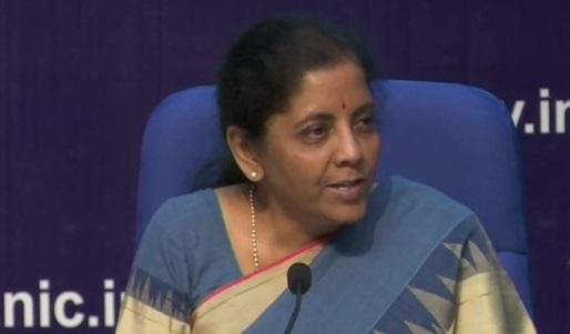 Finance Minister Nirmala Sitharaman
