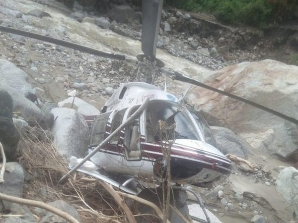 Helicopter carrying relief material for flood-ravaged Mori-Arakot crash-lands in Tikochi