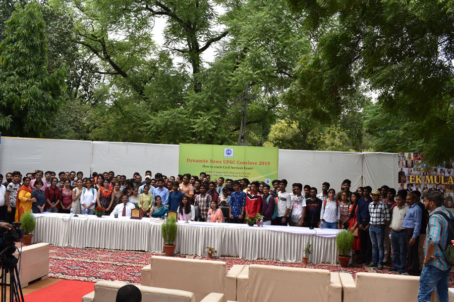 A large number of participants in Dynamite News UPSC Conclave 2019