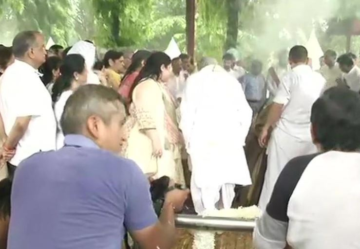 Former finance minister Arun Jaitely cremated
