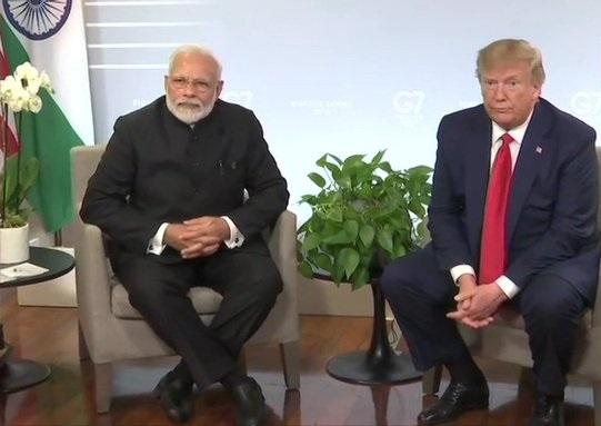 Prime Minister Narendra Modi meets President Donald Trump
