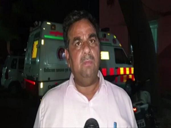 District Magistrate (DM) Sarvagya Ram Mishra speaking to media in Mathura