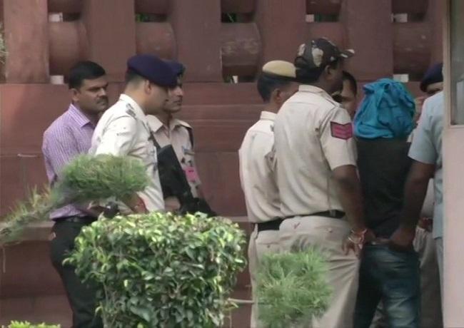 A man held by Delhi police