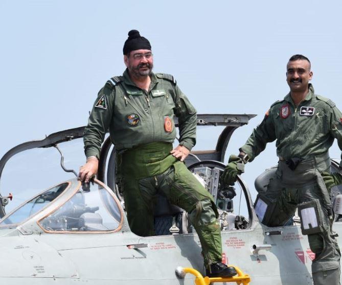 Air Chief Marshal BS Dhanoa and Wing Commander Abhinandan Varthaman