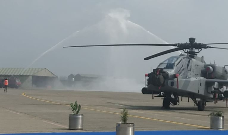 Apache attack helicopters inducted into Indian Air Force